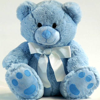 Blue Roly Bear