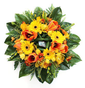 Yellow and Orange Wreath