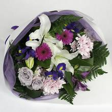 Purple & White Bouquet - Waiporoporo