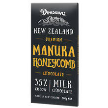 Donovans  Manuka Honeycomb Milk Chocolate Block 100g