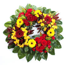 Red and Yellow Wreath