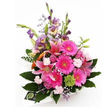 Pink & Mauve Flower Basket